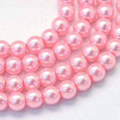 Korálek kovový červený (10 mm)