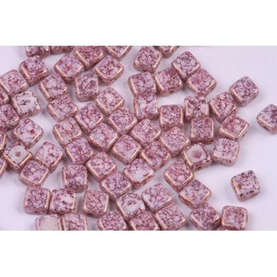 Dvoudírkové čtverečky č.4 (6x6 mm)