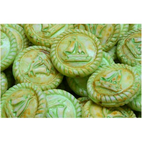 Korálky kytičky č.1379 (8x8mm)
