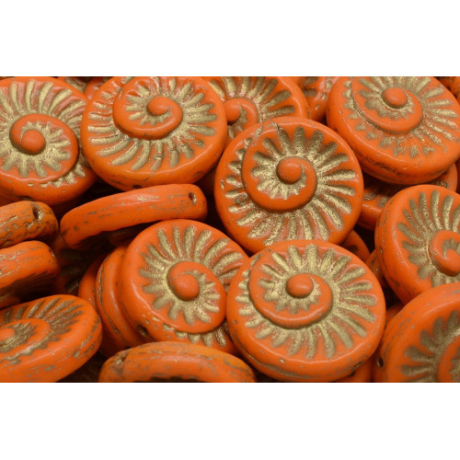 Korálky Fossil Shell 2838 (18x18mm)