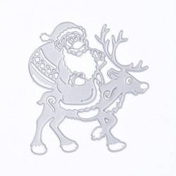 Santa Claus with Reindeer cutting template 19.