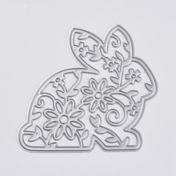 Rabbit with Flower cutting template 19.