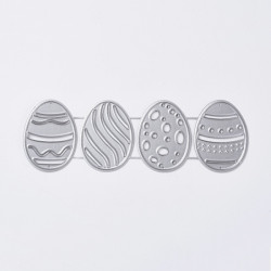 Easter eggs cutting template 20.