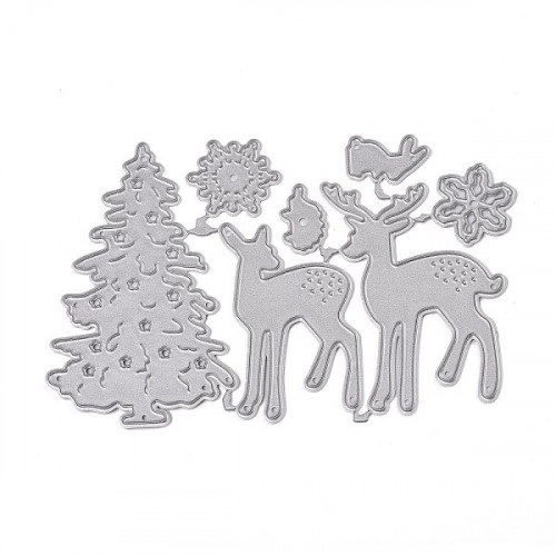 Christmas Tree Elk template 30.