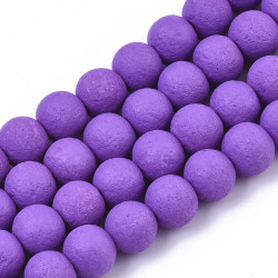 Spray painted glass bead No 4017 (8 mm)