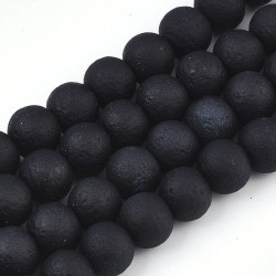 Spray painted glass bead No 4018 (8 mm)