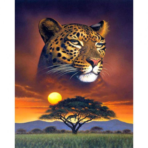 Diamond painting - Cheetah no. 9
