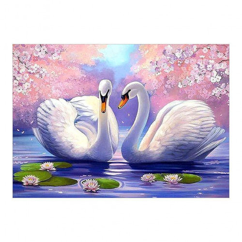 Diamond painting - Two white swans no. 21