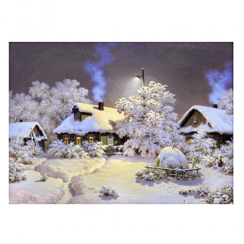Diamond painting - Snowy houses No.26