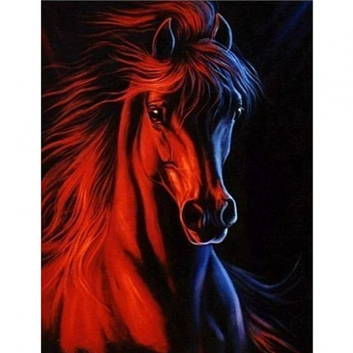 Diamond painting - Horse head No. 38