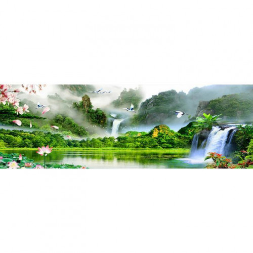 Diamond painting - Lake with waterfall No.43