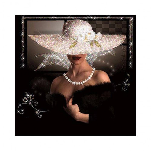 Diamond painting - Lady in hat No.62
