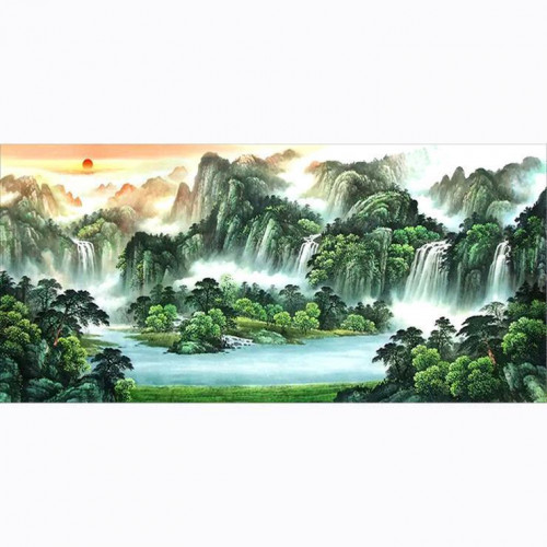 Diamond painting - Landscape with waterfall no.80