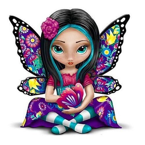 Diamond painting - Butterfly Fairy No.85