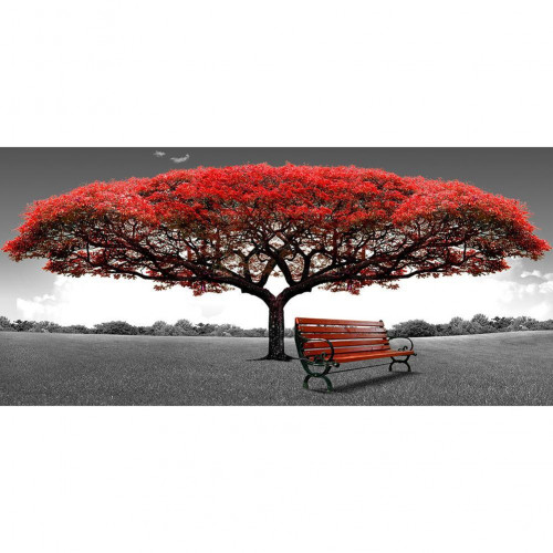 Diamond painting - Tree with bench no.103