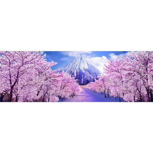 Diamond painting - Pink trees and mountain No.172