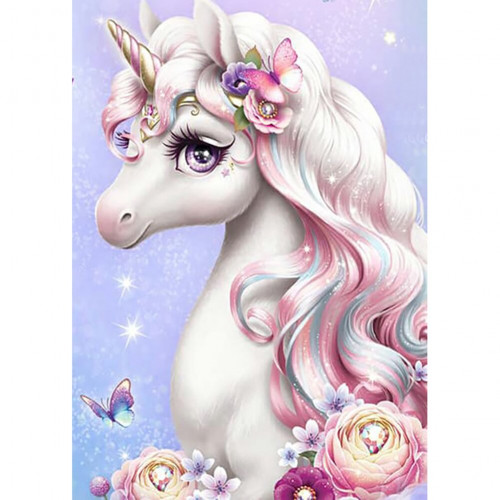 Diamond painting - Unicorn with butterfly No.176