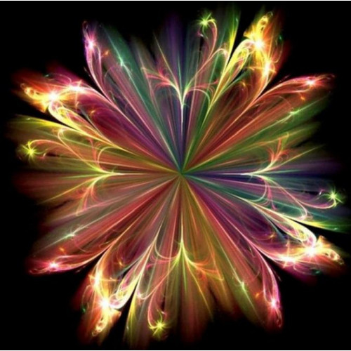 Diamond painting - Abstract fantasy flower No.432
