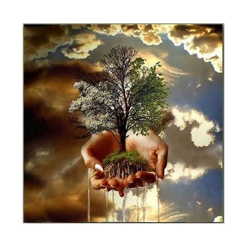 Diamond painting - Tree in the hands of No. 502