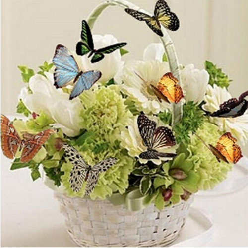 Diamond painting - Butterfly basket No. 503