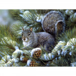 Diamond painting - Squirrel on a tree No. 504