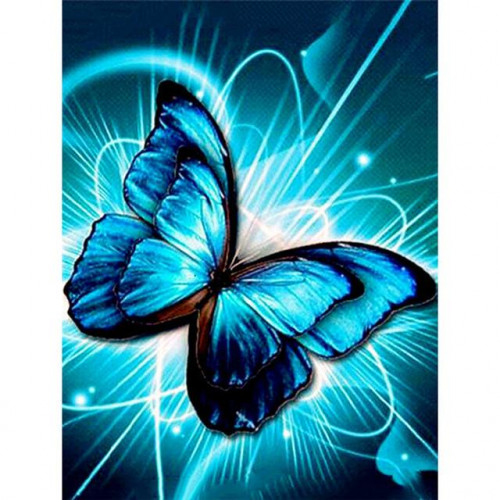 Diamond painting - Blue butterfly No. 505