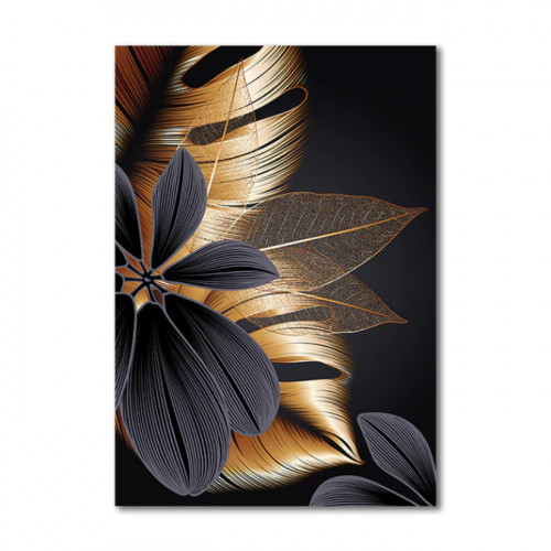 Diamond painting - Abstract leaves No.556