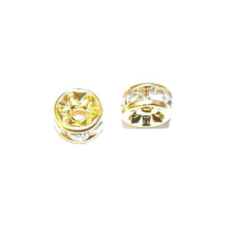 Rondelka zlatá 7 mm